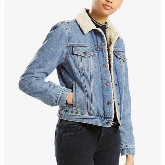 Levi Strauss original trucker jacket Sherpa lined